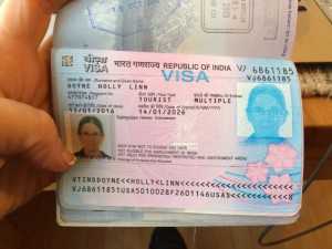 and the visa, which took me a few minutes to find.