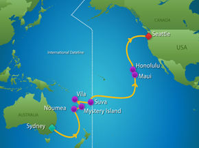 our route across the Pacific