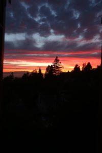 Sunset toward Marin
