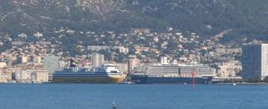 docked in Toulon